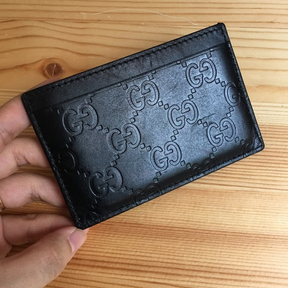 11f00240bf24 Gucci Handbags - 100% authentic Gucci signature leather card case
